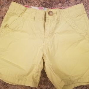 Girls old navy yellow shorts Size 8